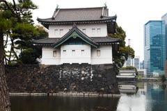 Palácio imperial do Tóquio o 31 de março de 2017 | Curso de Japão com marco da história Imagem de Stock Royalty Free