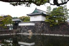 Palácio imperial do Tóquio o 31 de março de 2017 | Curso de Japão com marco da história Fotografia de Stock Royalty Free