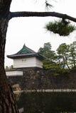 Palácio imperial do Tóquio o 31 de março de 2017 | Curso de Japão com marco da história Foto de Stock Royalty Free