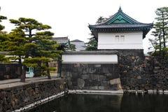 Palácio imperial do Tóquio o 31 de março de 2017 | Curso de Japão com marco da história Foto de Stock