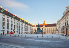 Palácio imperial no dia, Áustria de Viena Hofburg fotos de stock royalty free