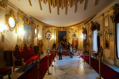 Palácio interno de Mohammed Ali - o Cairo fotografia de stock royalty free