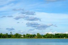 Palácio local da paisagem do cenário da cidade no na de Nakhonprathom Tailândia Imagens de Stock