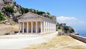 Palácio na cidade de Corfu, Grécia, Europa Imagem de Stock