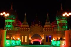 Palácio na noite Fotos de Stock Royalty Free