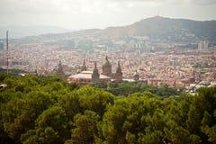 Palácio nacional, Catalonia, Barcelona Foto de Stock Royalty Free