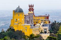 Palácio Nacional da Pena. The Pena Palace Portuguese: Palácio da Pena is a Romanticist castle in São Pedro de Penaferrim, in the municipality of Sintra stock images