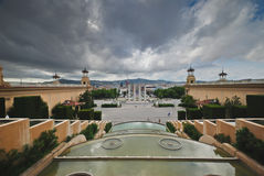 Palácio nacional de Barcelona Imagem de Stock