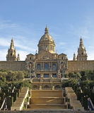 Palácio nacional de Catalonia fotos de stock