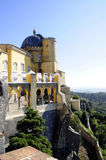 Palácio nacional de Pena - local da herança - floresta de Sintra Fotografia de Stock