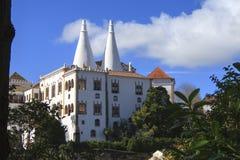 Palácio Nacional de Sintra. In Portugal stock image