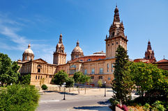 Palácio nacional em Barcelona Imagens de Stock Royalty Free