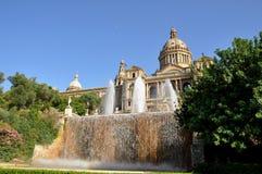 Palácio nacional em Barcelona Fotos de Stock Royalty Free