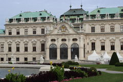 Palácio no jardim Viena de Belvederegarten fotos de stock