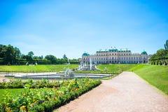 Palácio no verão, Viena do Belvedere, Áustria imagens de stock