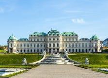 Palácio no verão, Viena do Belvedere Fotografia de Stock
