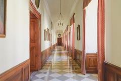 Palácio 18o c de Valtice em República Checa, assento anterior dos príncipes do ruling de Liechtenstein Arquiteto Johann Erlach Imagens de Stock Royalty Free