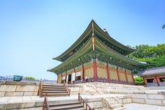 Palácio ou Changdeokgung de Changdeok o 17 de junho de 2017 em mares do verão Foto de Stock Royalty Free
