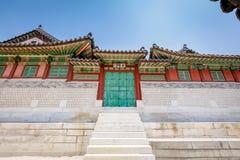 Palácio ou Changdeokgung de Changdeok o 17 de junho de 2017 em mares do verão Fotografia de Stock Royalty Free