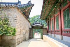 Palácio ou Changdeokgung de Changdeok o 17 de junho de 2017 em mares do verão Fotografia de Stock