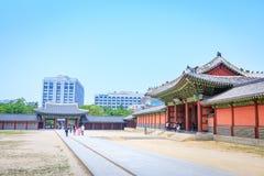 Palácio ou Changdeokgung de Changdeok o 17 de junho de 2017 em mares do verão Imagem de Stock Royalty Free