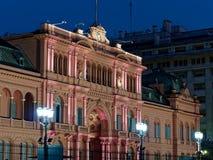 Palácio presidencial da casa do rosa de Argentina imagem de stock