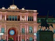 Palácio presidencial da casa do rosa de Argentina fotografia de stock