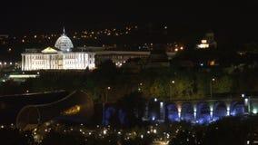 Palácio presidencial de Geórgia em Tbilisi vídeos de arquivo