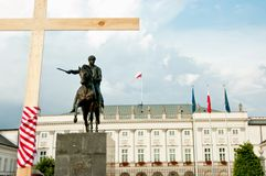 Palácio presidencial de Varsóvia Imagem de Stock Royalty Free