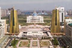 Palácio presidencial e torres gêmeas no distrito governamental Fotografia de Stock