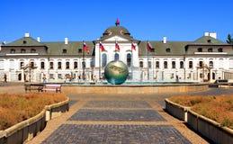Palácio presidencial em Bratislava Fotografia de Stock Royalty Free