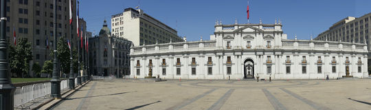 Palácio presidencial, Santiago, o Chile Imagem de Stock