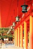 Palácio principal no santuário de Heian fotos de stock