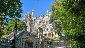Palácio Quinta da Regaleira em Sintra, Portugal fotos de stock