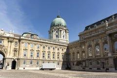 Palácio real em budapest imagens de stock royalty free