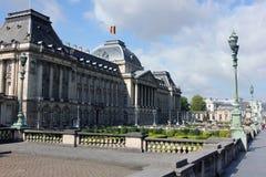 Palácio real, fora no centro administrativo em Bruxelas, Bélgica fotografia de stock royalty free