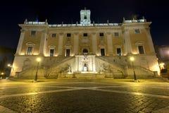 Palácio senatorial do Capitólio em Roma Foto de Stock Royalty Free