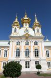 Palácio St Petersburg de Petrodvorets-Peterhof Fotografia de Stock Royalty Free