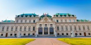 Palácio superior do Belvedere em Viena fotos de stock royalty free