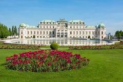 Palácio superior do Belvedere, Viena, Áustria fotos de stock royalty free
