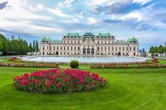 Palácio superior do Belvedere, Viena, Áustria imagem de stock