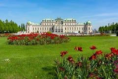 Palácio superior do Belvedere, Viena, Áustria foto de stock royalty free