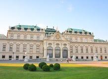 Palácio superior do Belvedere viena Áustria Fotografia de Stock
