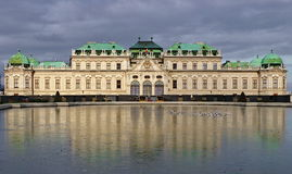 Palácio superior do Belvedere - Viena, Áustria Imagem de Stock