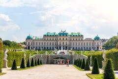 Palácio superior do Belvedere, vista da fonte imagens de stock