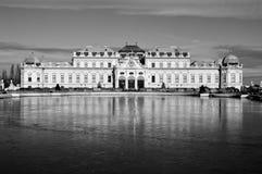 Palácio superior no Belvedere complexo histórico, Viena, Áustria Imagem de Stock