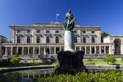 Palácio velho em Kerkira, Corfu Fotos de Stock Royalty Free