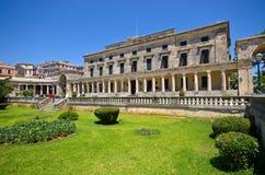 Palácio velho na cidade de Corfu, Grécia foto de stock