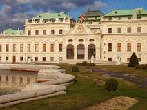 Palácio Viena Áustria do Belvedere imagens de stock