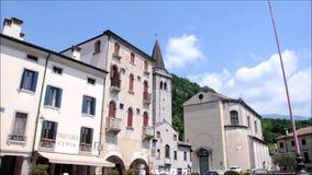 - Palácios antigos na cidade de Vittori Vêneto vídeos de arquivo